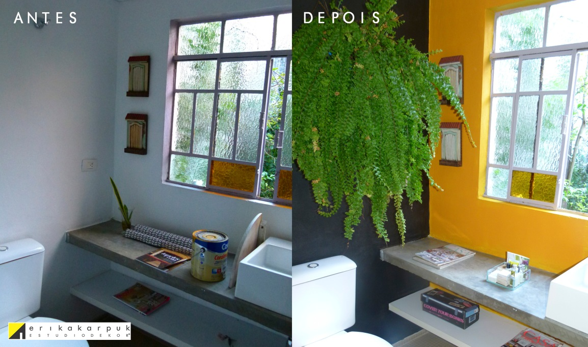 Use a cor para decorar ANTES&DEPOIS