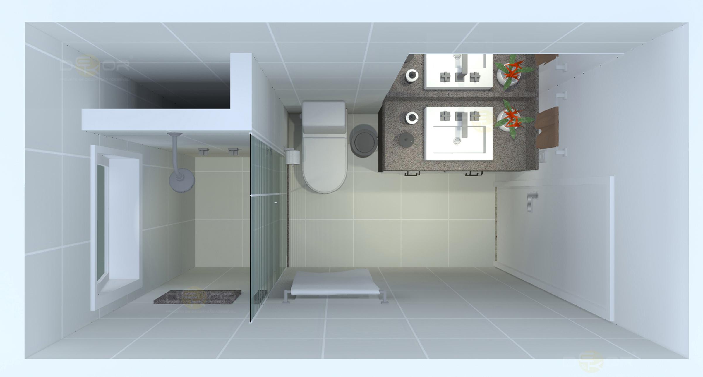 05/03/2014 2402 × 1290 Projeto de Banheiro – Decoração Online #11 #4D697E 2402 1290