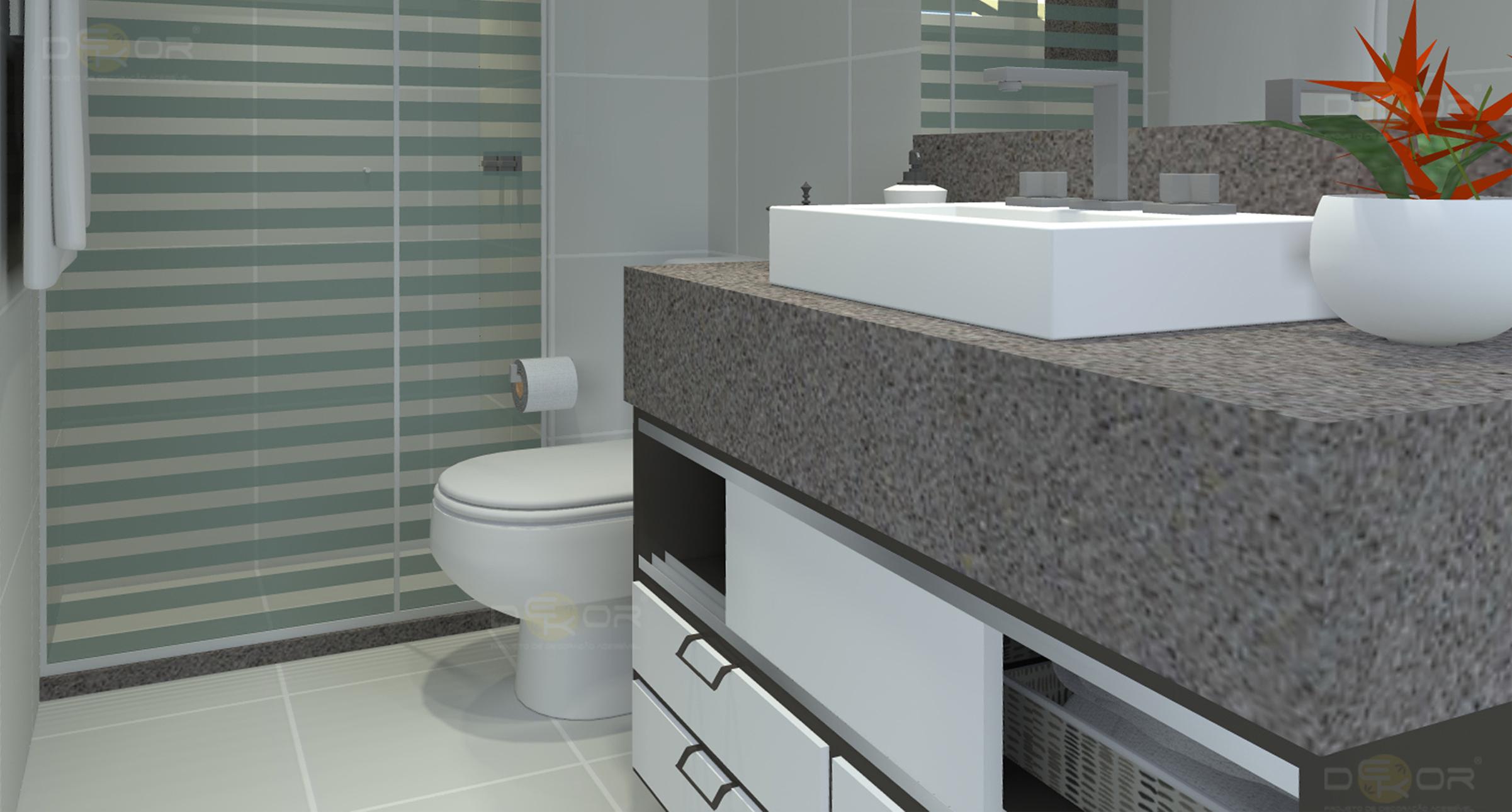 Projeto de Banheiro – Decoração Online #12 Erika Karpuk #753F29 2402 1290