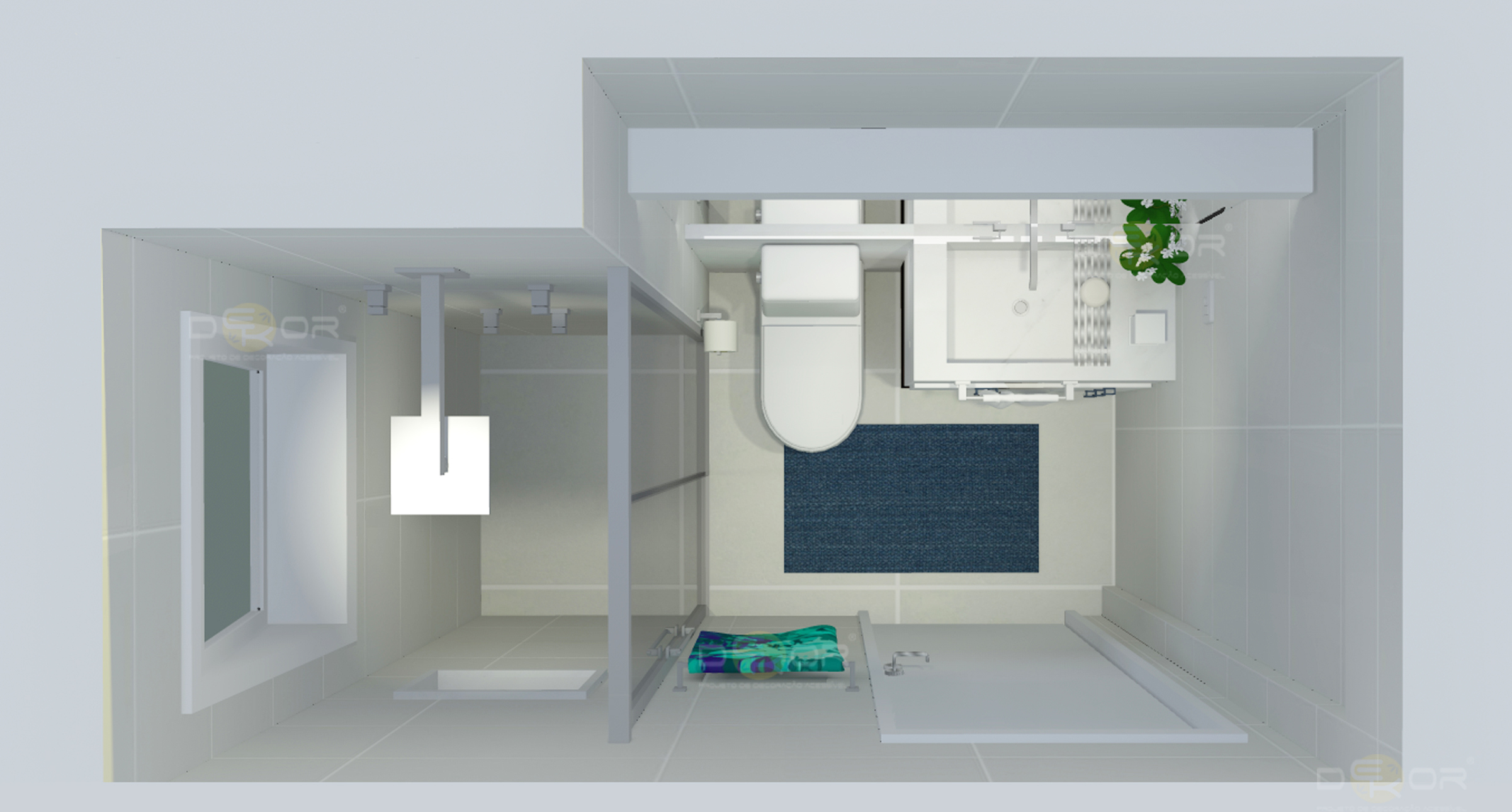 Projeto de Banheiro – Decoração Online #14 Erika Karpuk #2B7C71 2402 1290