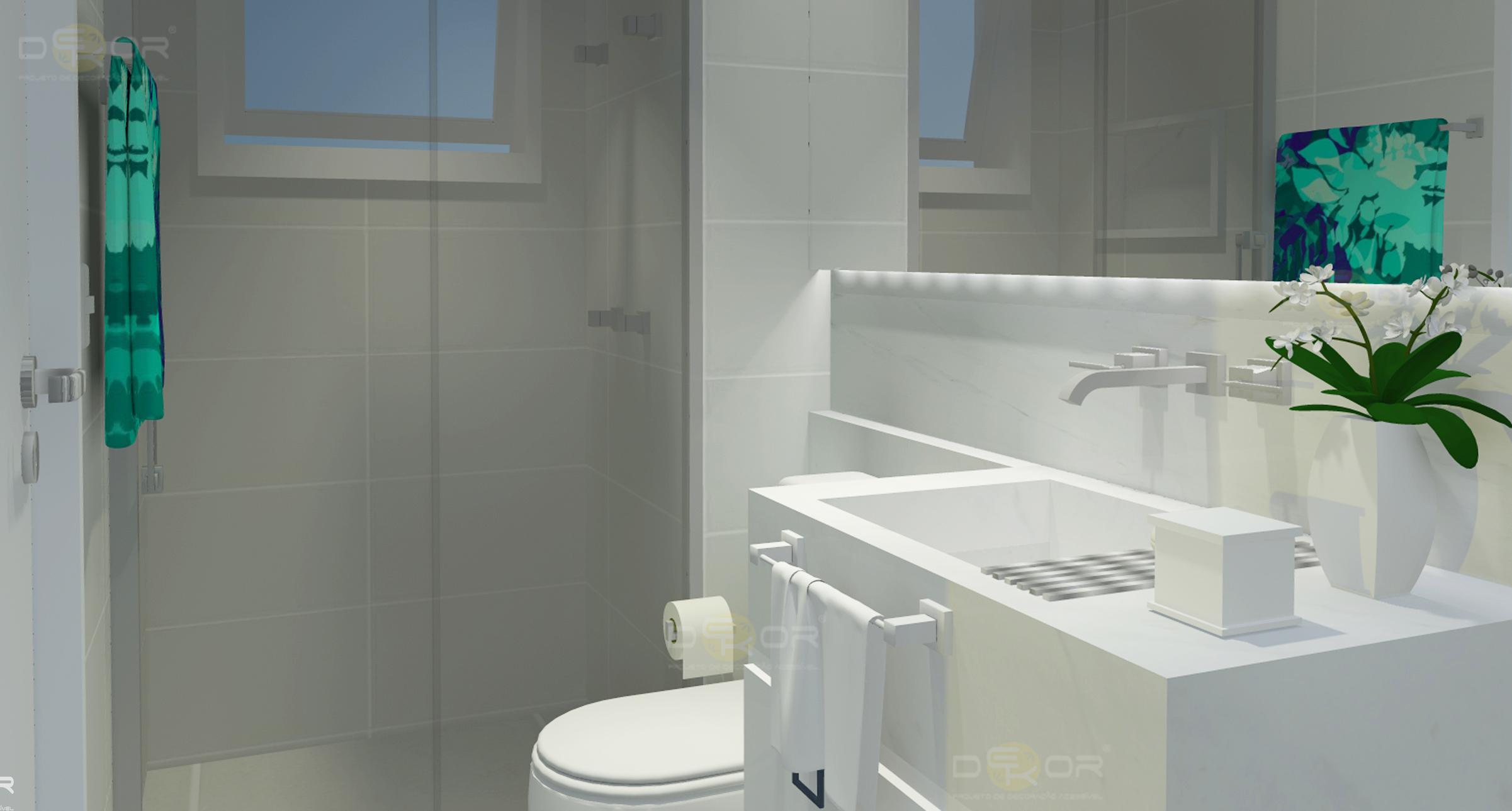 Projeto de Banheiro – Decoração Online #16 Erika Karpuk #238571 2402 1290