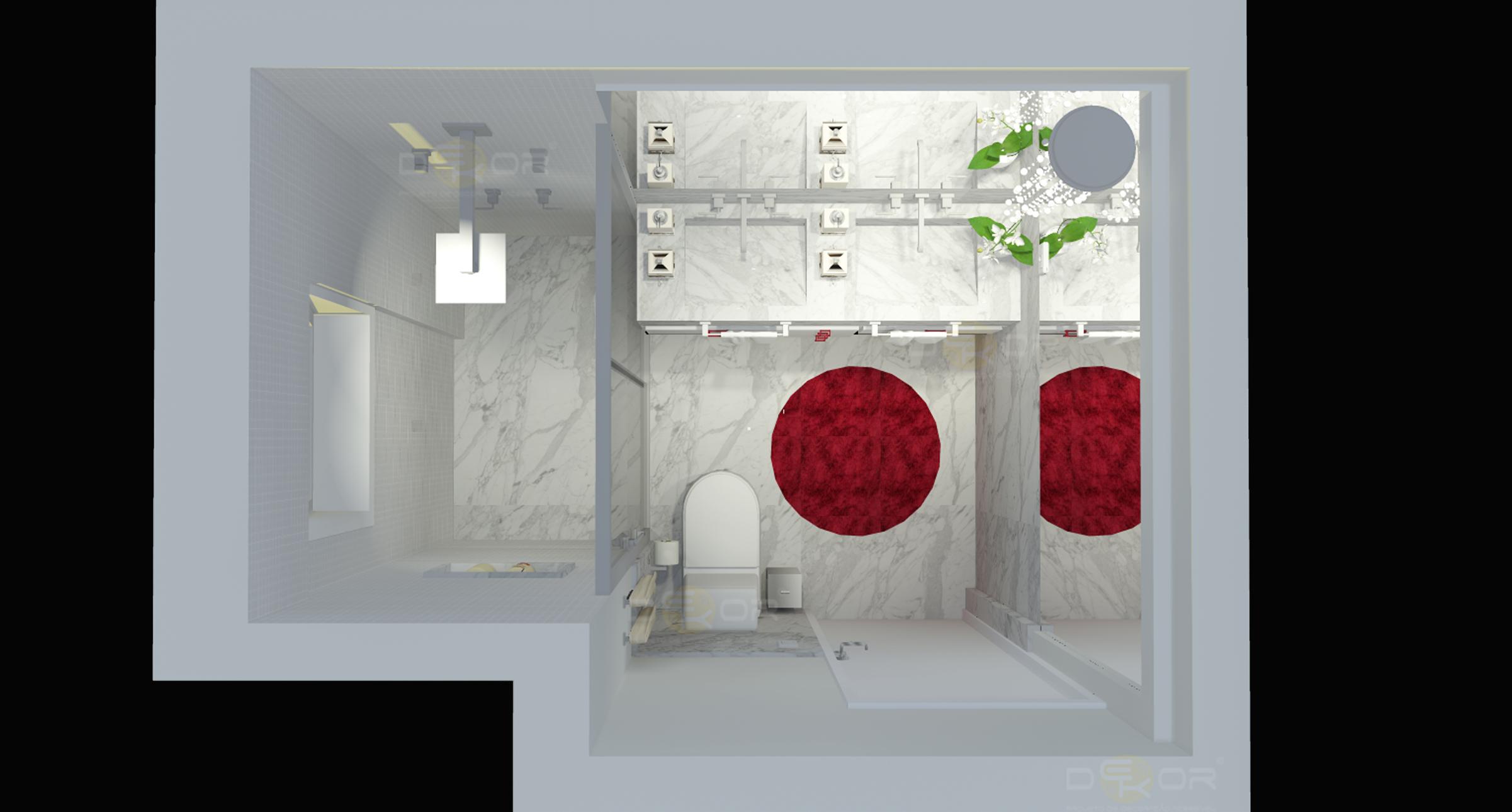 Projeto de Banheiro – Decoração Online #17 Erika Karpuk #76101D 2402 1290