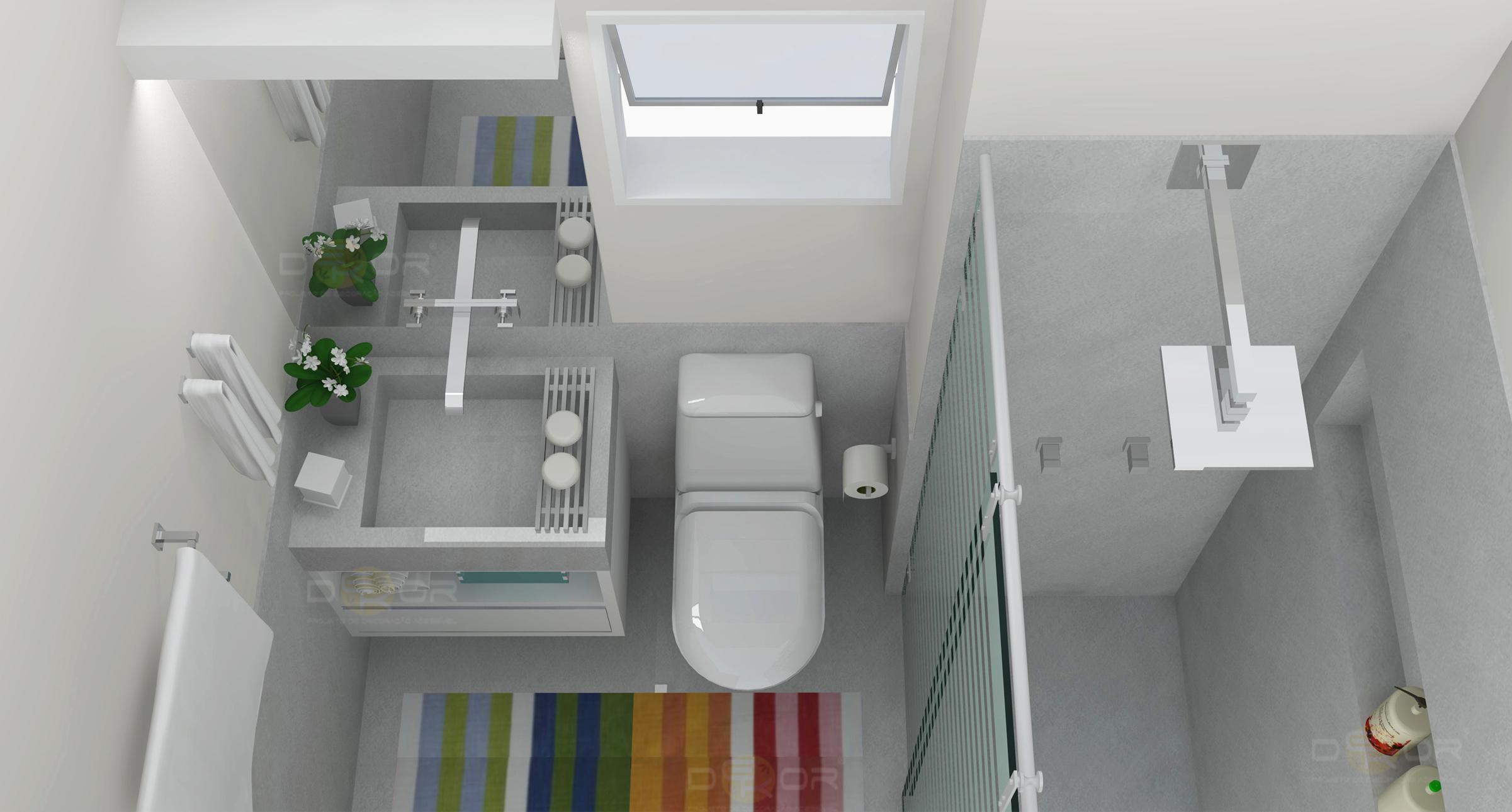 05/03/2014 2402 × 1290 Projeto de Banheiro – Decoração Online #2 #6B3828 2402 1290