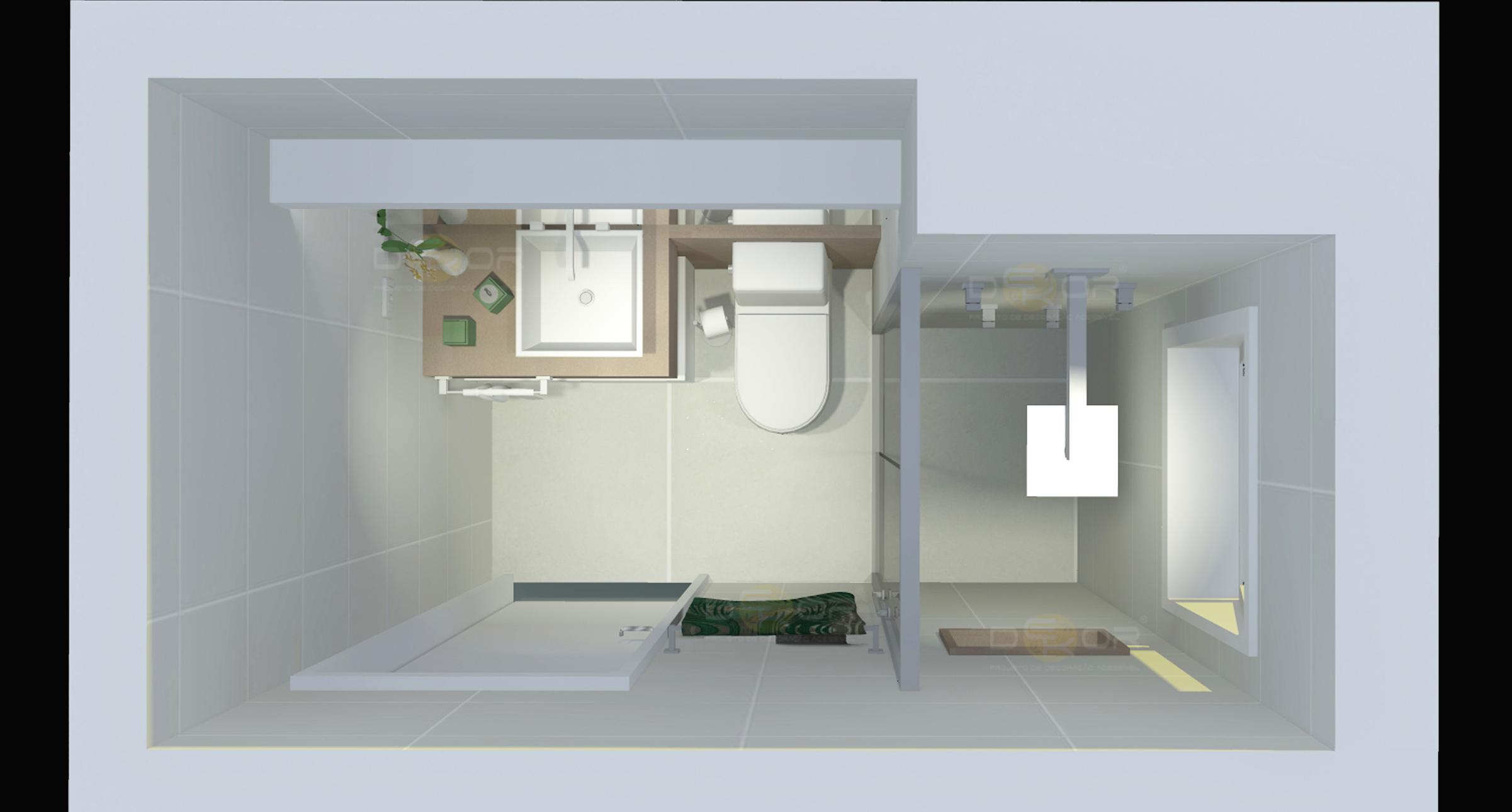 Projeto de Banheiro – Decoração Online #20 Erika Karpuk #796B52 2402 1290