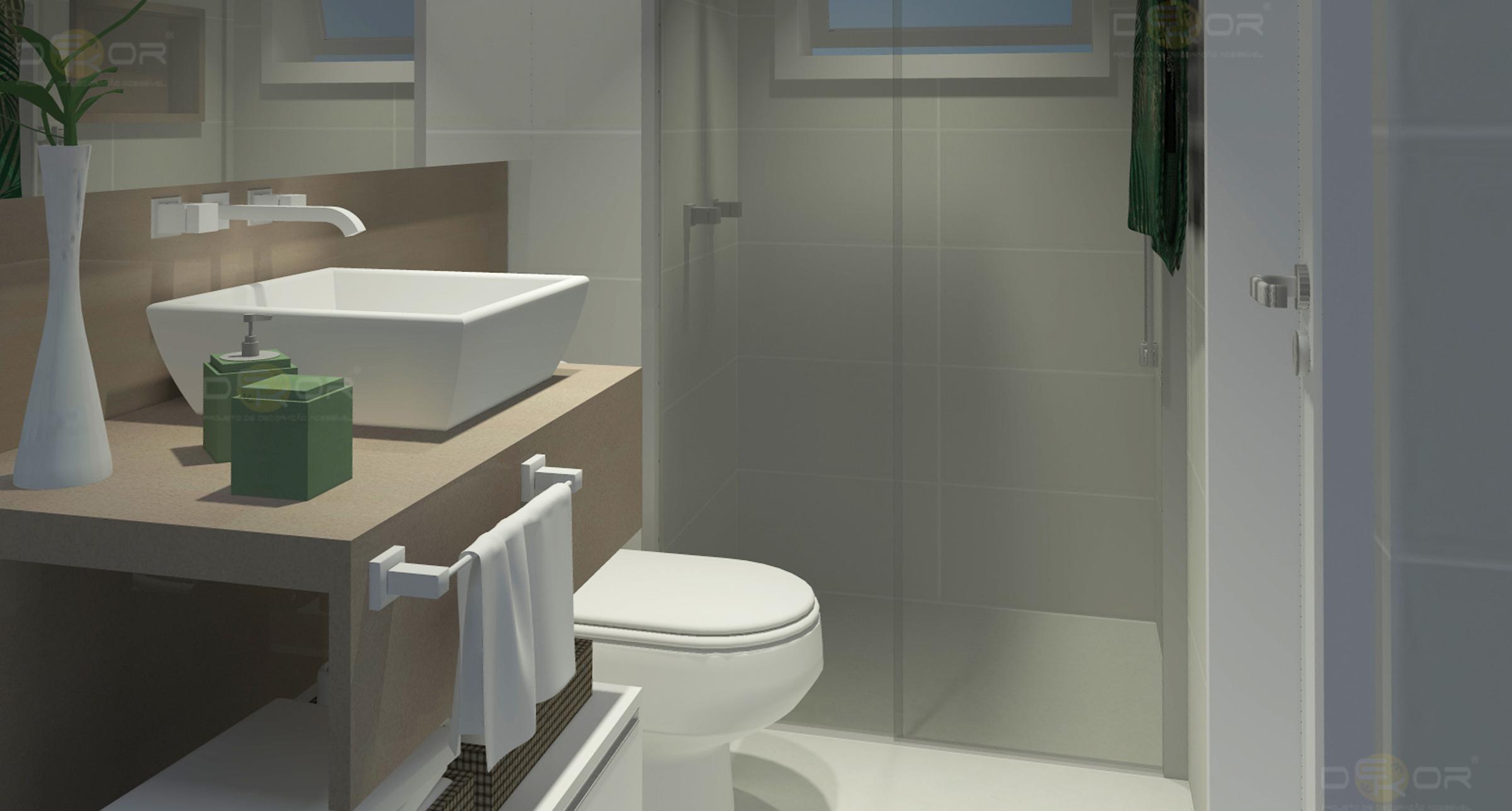 Projeto de Banheiro – Decoração Online #22 Erika Karpuk #786D53 2402 1290