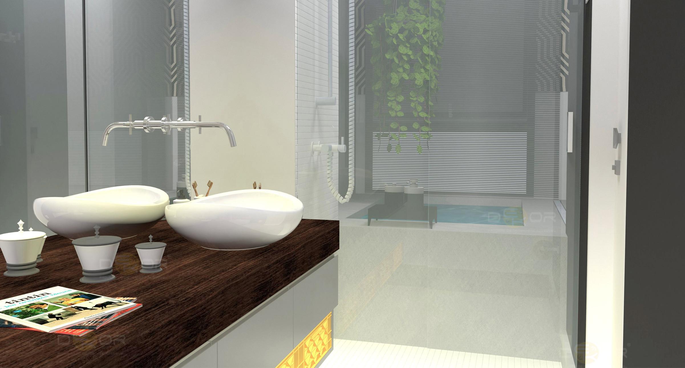 06/03/2014 2402 × 1290 Projeto de Banheiro – Decoração Online #26 #5D4333 2402 1290