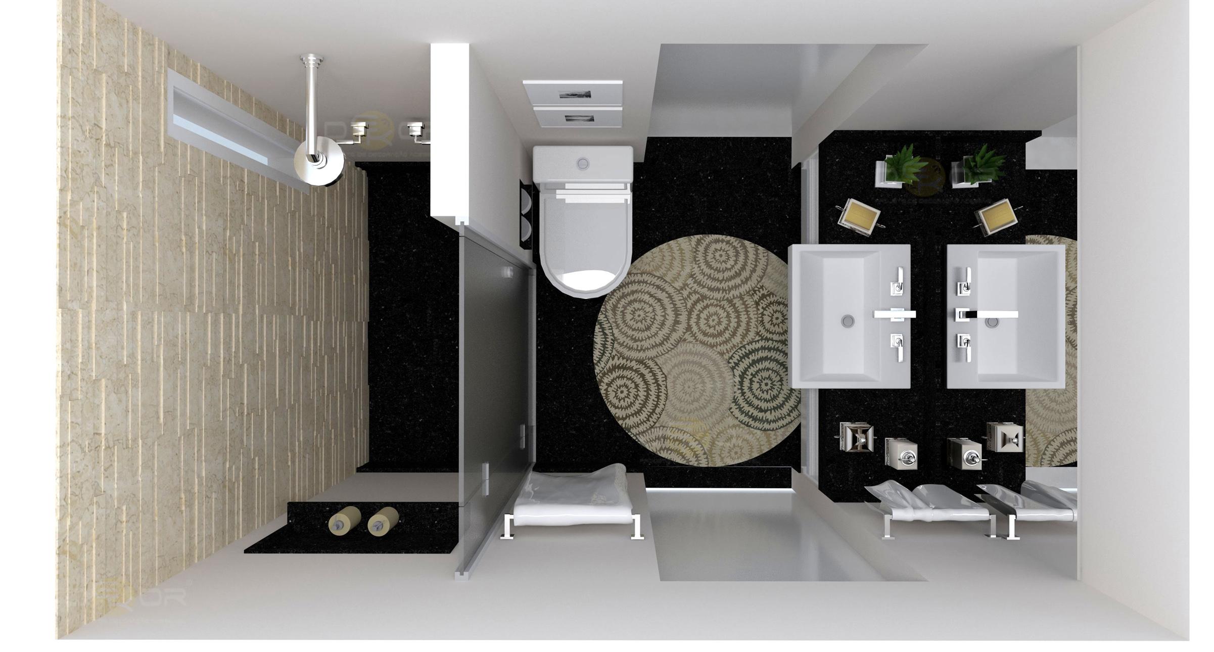 Projeto de Banheiro – Decoração Online #5 Erika Karpuk #766C55 2402 1290