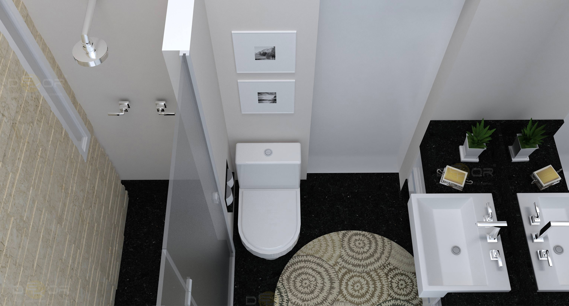 banheiro decoração online 6 gabinete de canto banheiro fotos sempre #726A59 2402 1290