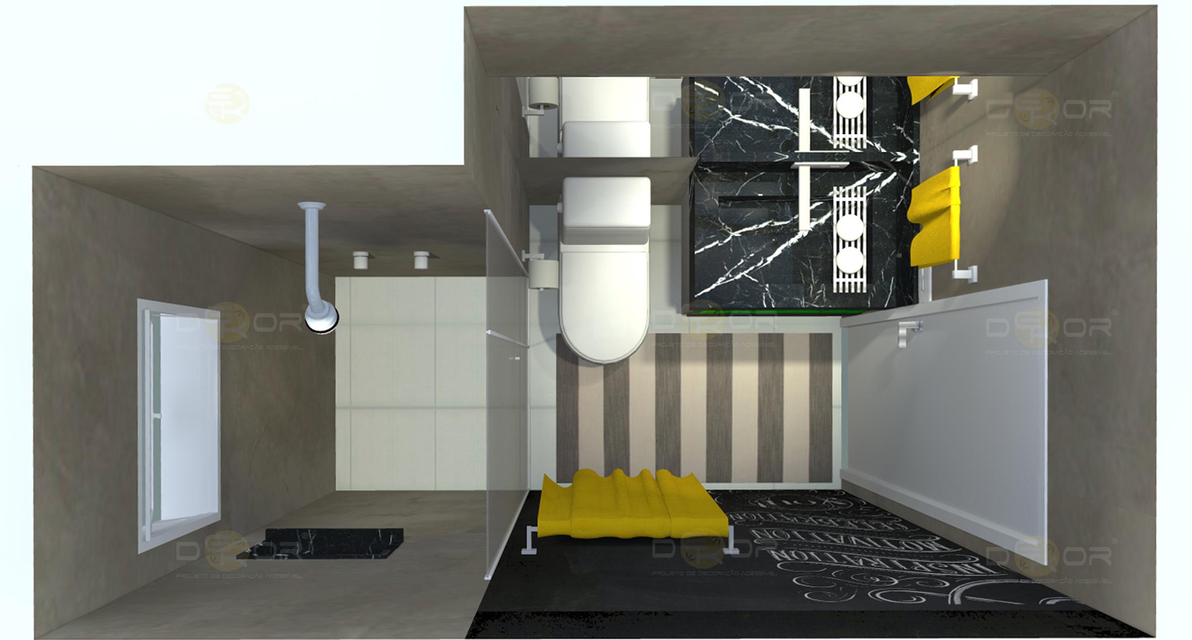 Projeto de Banheiro – Decoração Online #8 Erika Karpuk #BE9C0D 2402 1290