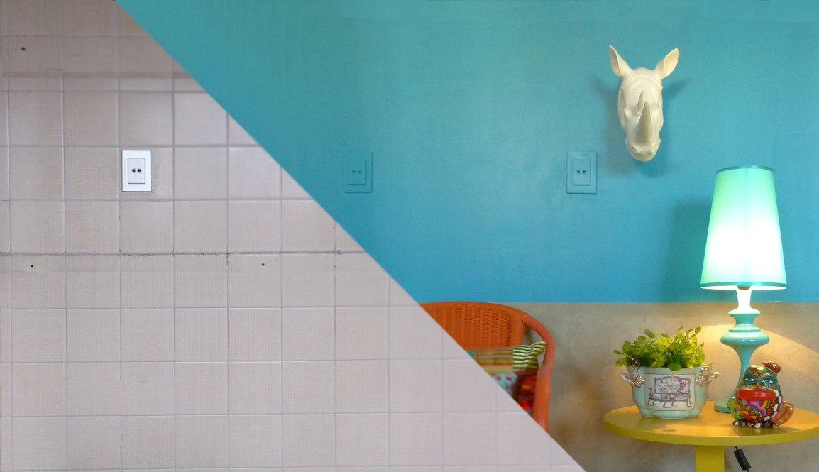 Cobrindo azulejos antigos erika karpuk ektube for Pintura para azulejos