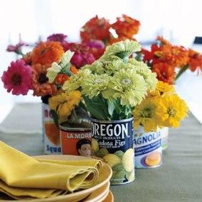 rótulos, latas e flores - rachel ray magazine