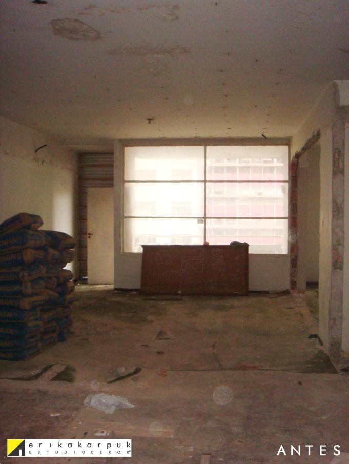 Sala ANTES da reforma. Projeto Erika Karpuk