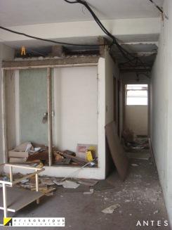 Dormitório e closet. ANTES da reforma. Projeto Erika Karpuk