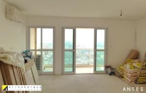 ANTES da Sala de estar. Apartamento Clássico Contemporâneo em SP projeto Erika karpuk