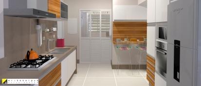Cozinha funcional. Apartamento Clássico Contemporâneo em SP projeto Erika karpuk