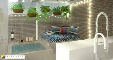 Cozinha gourmet com área Relax. Sonho de consumo da decoração. Apartamento Geek . projeto Erika Karpuk