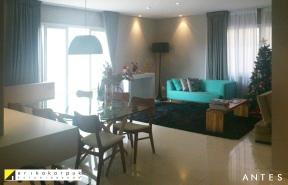 Apesar dos ótimos móveis comprados pelos proprietários, a decoração estava inacabada.