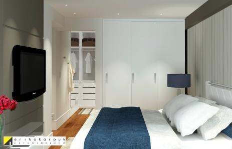 Dormitório Apartamento no RJ. Por Erika Karpuk