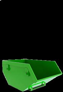 Caçamba verde- obra limpa