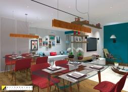 O espelho na parede de entrada ampliou o ambiente. Duplex em SBC . projeto Erika Karpuk