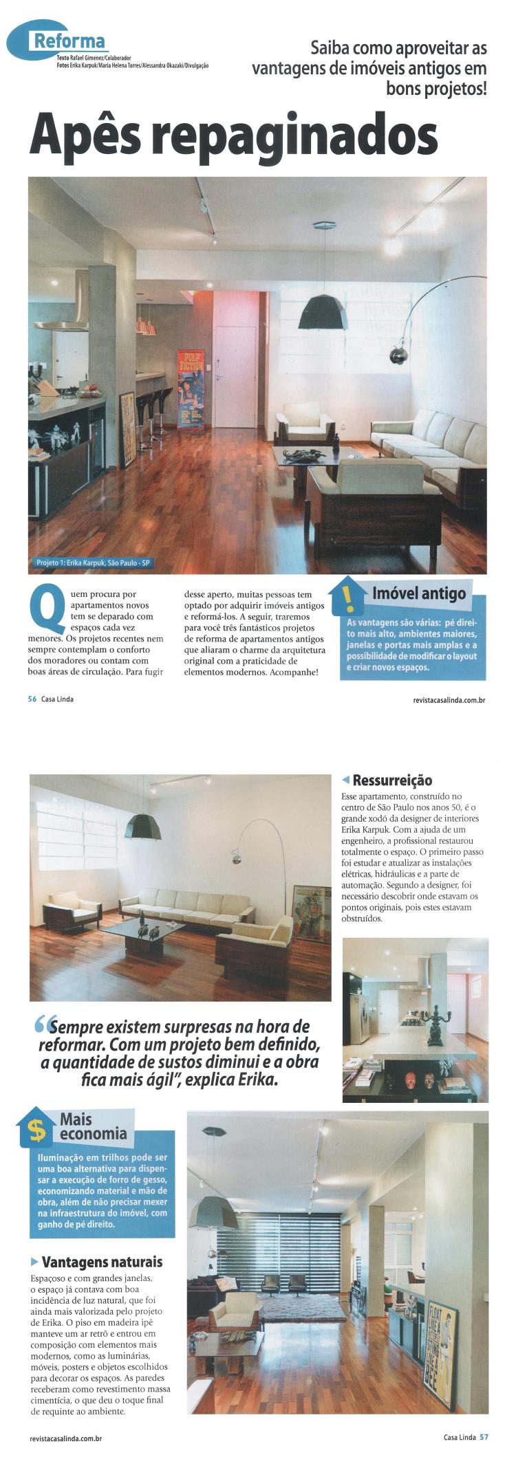 Revista Casa Linda - AP ANTIGO REFORMADO - Erika Karpuk