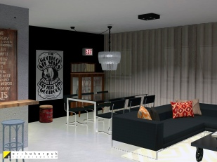 Salas integradas. the house of blues - ap maxhaus -projeto erika karpuk