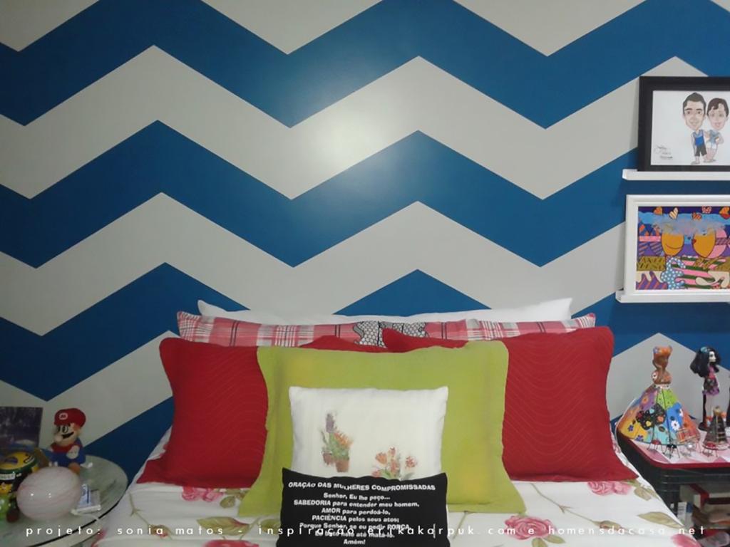 Projeto da parede Chevron inspirada no blog homensdacasa.net Projetos criado mudo e prateleiras inspirados no canal da Erika youtube.com/ektube