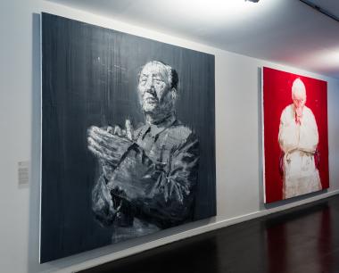 """Yan PEI-MING """"Mao"""" 2005 e """"Pape"""" [O Papa] 2005"""