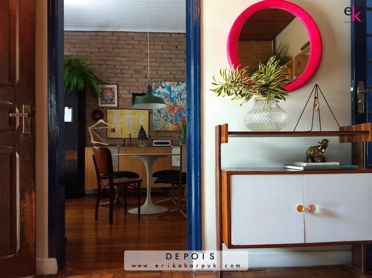 Transformação na sala por @erikakarpuk . Tijolinho, reaproveitamento, menos lixo mais design, desconstruindo a perfeição #casadaerika